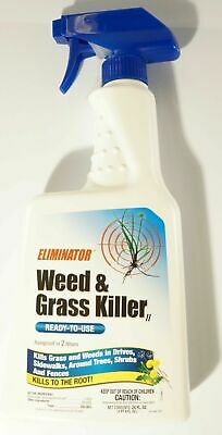 New Eliminator Weed And Grass Killer Ready To Use 24oz Spray Bottle