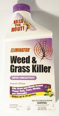 New Eliminator Weed And Grass Killer Super Concentrate 32oz Bottle