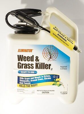 New Eliminator Refillable Pump And Spay Ready To Use Weed And Grass Killer 1.33G