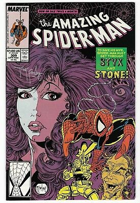 The Amazing Spider-Man #309 (Nov 1988, Marvel) Signed by Todd McFarlane