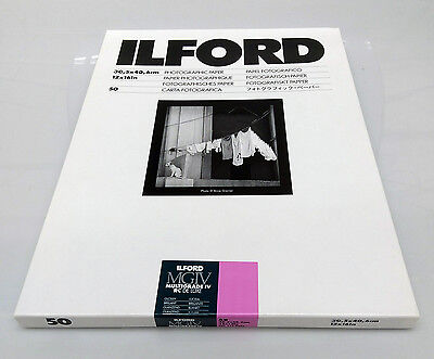 Ilford Multigrade IV RC Glossy Photographic Paper 12x16 inches 50 sheets