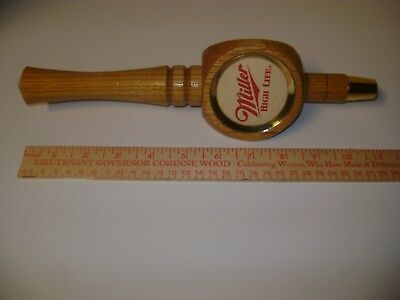 MILLER HIGH LIFE Wooden Beer Tap Pull Handle good condition