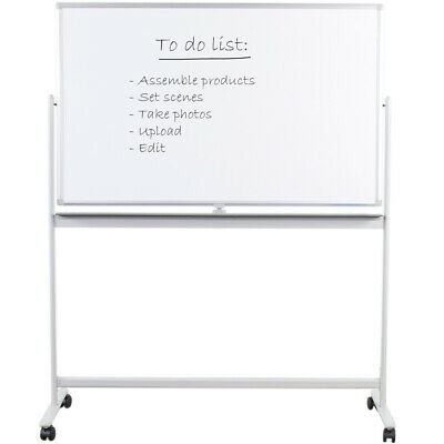 "VIVO Mobile Dry Erase Board 48"" x 32"" Magnetic Double Sided Whiteboard Stand"