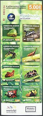 Ecuador 2015 Insekten Insects Ameise Käfer Beetles Markenheft Booklet MNH