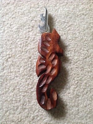 Vintage Wooden Seahorse Can Opener!!