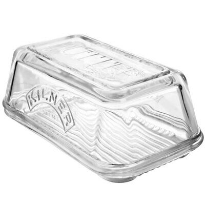 Kilner Glass Butter Dish Dishwasher/Microwave Safe Storage/Container Tableware