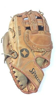 Spalding Baseball Glove A1000 EZ-Flex Top Grain Leather 42-3926 Left Handed Used