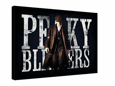 PEAKY BLINDERS GANGSTERS Union Jack - Quality canvas wall art, ready ...