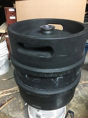 - 7.93 GALLON  30L STAINLESS STEEL EMPTY BEER KEG Quarter Barrel rubber covered