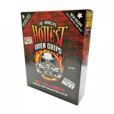 1 BOX of The World's Hottest Corn Chips! SUPER XXX HOT! Chilli Seed Bank *NEW*