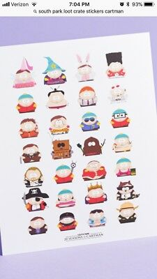 South Park Loot Crate Cartman Stickers
