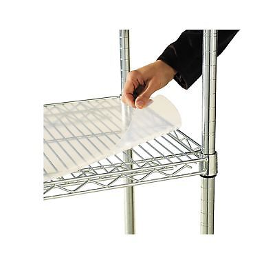 Alera ALESW59SL4824 Shelf Liners For Wire Shelving, Clear Plastic, 48w x 24d ...