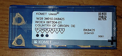 New Komet W29 34010.048425/WOEX06T304-01 BK8425 Factory Pack of 10 Inserts