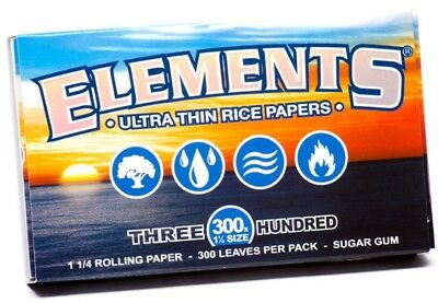 1 ELEMENTS Rolling Papers 300s Rice Natural Ultra Thin Slow Burning 1 1/4