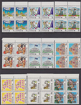 Australia 1988 LIVING TOGETHER the 27 blocks mint unhinged
