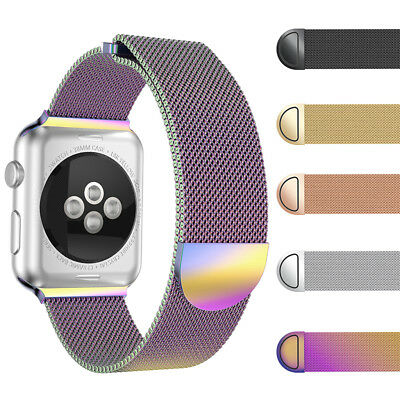 For Apple Watch Series 3 2 1!2018 Milanese Magnetic Metal Watch Wrist Band Strap
