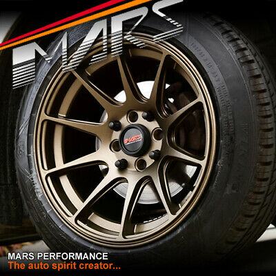 MARS Bronze MP-MS 15 inch 100 114.3 Wheels Swift Jazz E30 Civic Mini Yaris Tiida