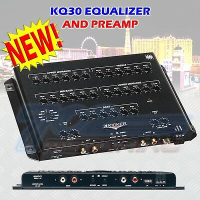 Kicker Kq30 Car Audio Stereo Mono Operation 30 Thirty Band Eq Equalizer Pre Amp