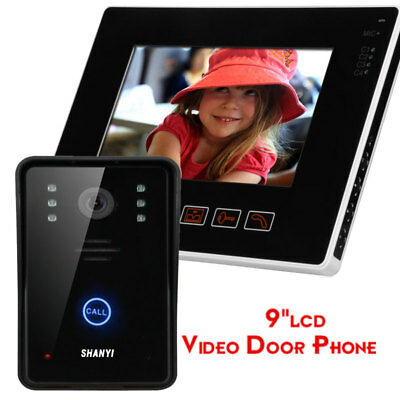 """Wired 9""""LCD Video Door Phone Doorbell Intercom System  with Night Vision Camera"""
