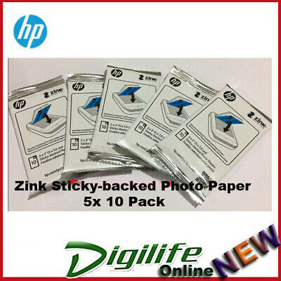 HP Paper Zink Sticky-backed Photo Paper 50 Pack for Sprocket 1RF42A