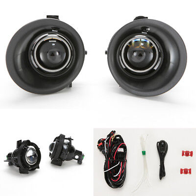 Projector Front Fog Lights For 2014 2015 Chevy Camaro 3.6L V6 Bezel Switch Bulbs