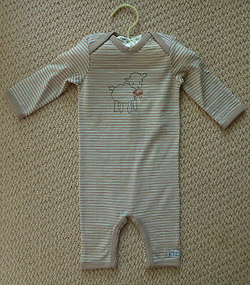 NWT Catriona Rowntree Girls Boys Merino Wool Romper Coverall Size 000 or 00