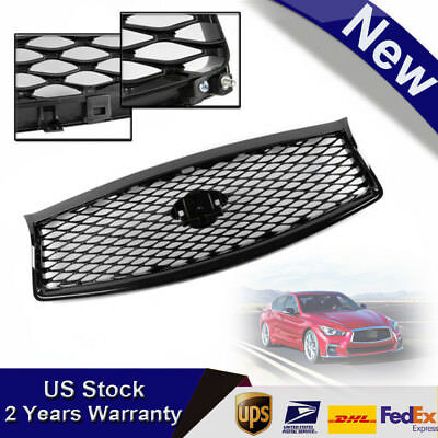 Front Mesh Upper Grill Replacement Fits for 2014-2017 Infiniti Q50 All Model NEW