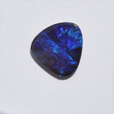 Natural Solid Australian 2.92Ct Boulder Opal Loose Stone Unset Blue Purple