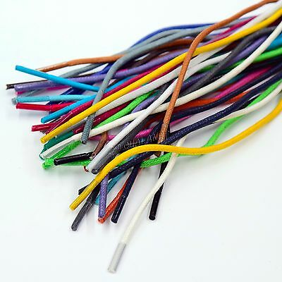 ROUND Waxed Cotton Dress Shoelaces Thin Colorful ShoeLaces Shoestrings Strings