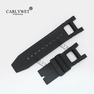 28mm Black Waterproof Rubber Watch Band FOR INVICTA SUBAQUA NOMA III 6043