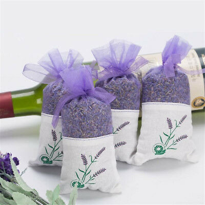 Dried Lavender Bags Aromatic Fragrant Favours Calming Sleep Aid Moth Repell