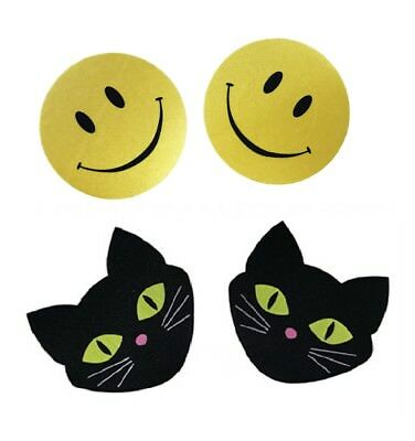 Smiley Face Pasties Breast Nipple Covers Sticker Pads Self Adhesive Fun Enhancer