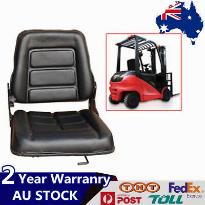 New Forklift Seat Multi Adjustable Leather - Bobcat Tractor Excavator Machinery