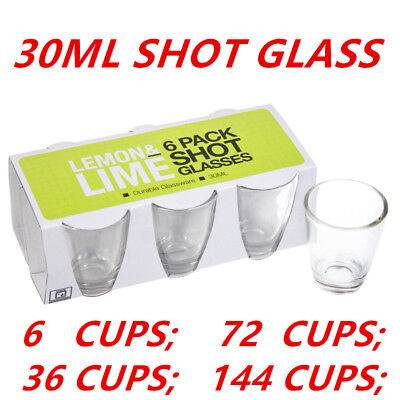 Glass Shot Cups 30ml Vodka Shot Whiskey Wine Beer Tea Glass Drinking Cup Party W