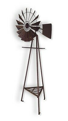 Heavy Duty Windmill Metal Ornament Iron Garden Sculpture Rust Rustic BIG *160 cm