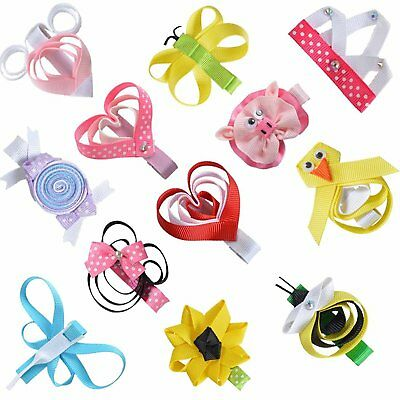 Creative Barrette Hair Bows For Girls Kids Toddlers with Heart Beetle Design