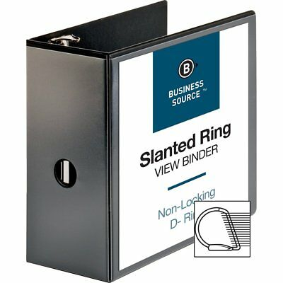 "Business Source Basic D-Ring View Binders - 5"" Binder Capacity - Letter - 8..."