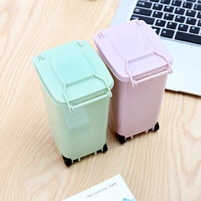 Dustbin Wheelie Trash Can Durable 10*8*15.5cm Plastic School Rulers