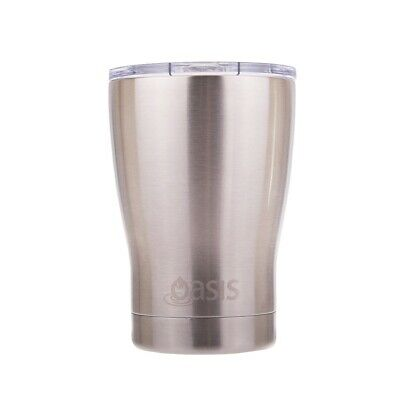 Oasis Insulated Travel Coffee Cup with Lid 340ml Silver