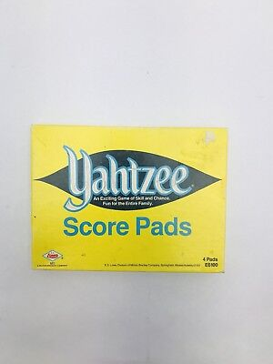 Vintage Yahtzee Game 3 Score Pads With Pencils