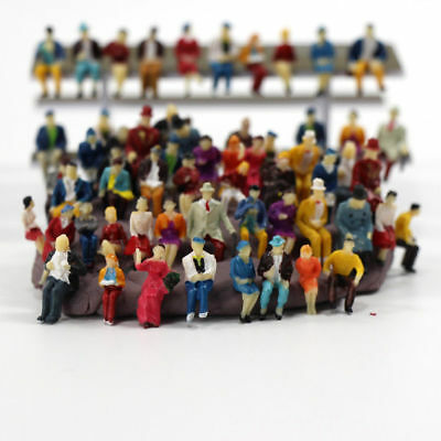 P8711 60 pcs HO scale 1:87 ALL Seated People sitting figures scenery passengers