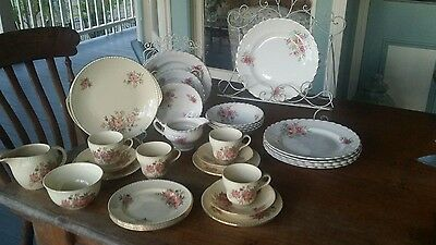 Floral English China . Great for vintage wedding 35 peices.