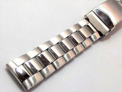 bracciale orologi acciaio maglia oyster spesso ansa 18 mm watch band stainless