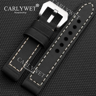 20 22 24 26mm New Handmade Thick Calf Leather Wrsit Watchband Strap Belt for PAM