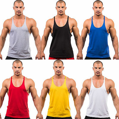 Men Gym Bodybuilding Stringer Tank Top Singlet Vest Sleeveless Racerback T-Shirt