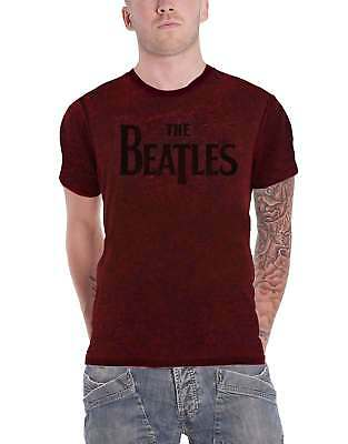 The Beatles T Shirt Drop T band Logo new Official Mens Red band logo