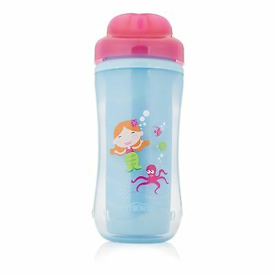 Dr Brown's Spoutless Mermaid Insulated Feeding Cup Toddler Baby 12 Months+, Pink