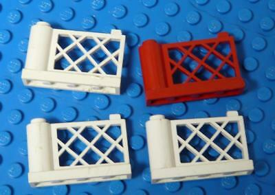 LEGO Fence Gate Assorted White Red x4PC