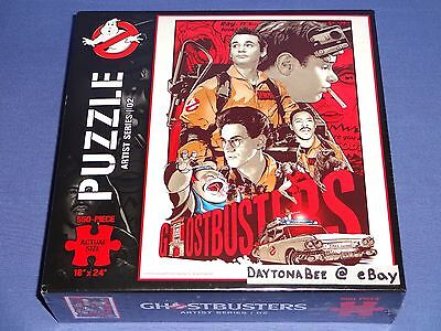 Ghostbusters 550 Piece Puzzle 18 x 24 Theyre Here To Save The World Josh Budich