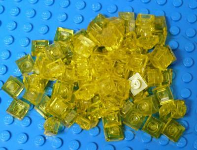 LEGO Plate 1 x 1 3024 Assorted Trans Yellow x90PC